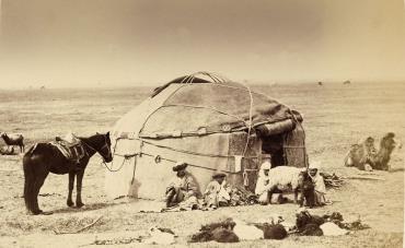 Киргизская юрта, 1860 год