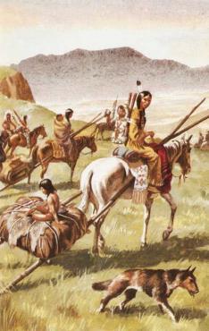 Транспортировка индейских типи
