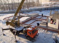 Монтаж блочно-модульного здания низкой заводской готовности