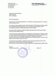 Testimonial of Mi SWACO company for Ermak caravans