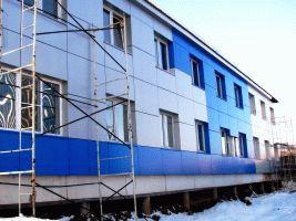 Наружная отделка помещений здания из СНП
