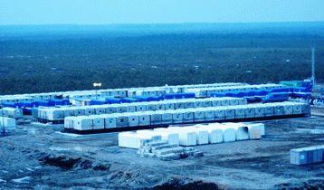 Вахтовый поселок на нефтегазовом месторождении