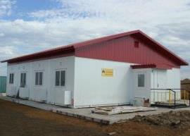 Одноэтажное здание АБК для Роснефти