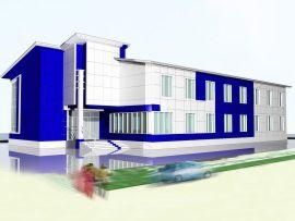 Эскизный проект административно-бытового здания