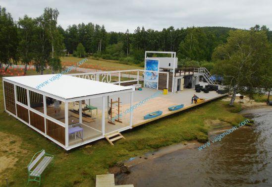 Береговой комплекс для занятий водными видами спорта