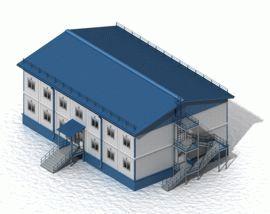 Быстровозводимое блочно-модульное здание