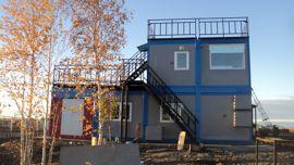 Другой фасад модульного здания КДП