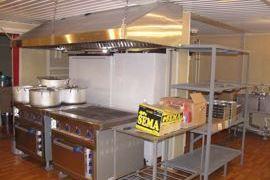 Кухня в модульной столовой