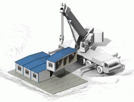 Блочно-модульное здание со встроенной крышей