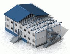Монтаж блок-модульного здания
