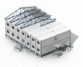 Блочно-модульное здание с фальш-крышей