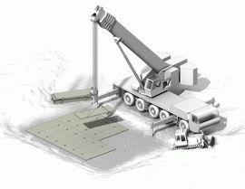 Монтаж основания блок-модульного здания