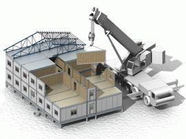 Монтаж быстровозводимого здания из сэндвич-панелей