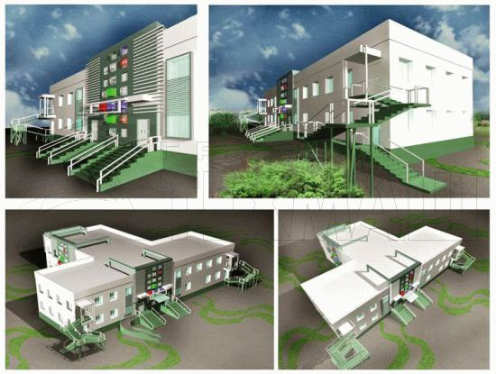 Детский сад на 75 мест - фасады