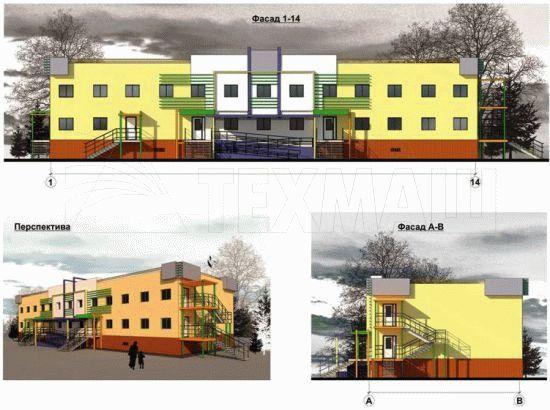 Детский сад на 20 мест - фасады