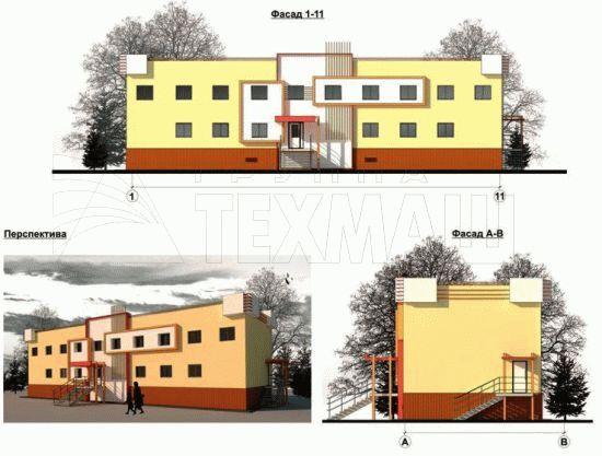 Здание школы на 30 мест - фасады