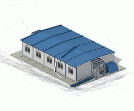 Завершение монтажа блок-модульного здания