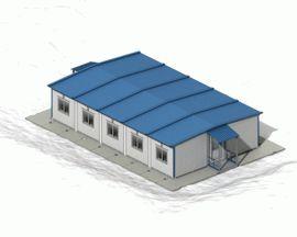 Блочно-модульное здание с встроенной крышей