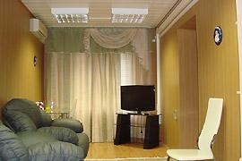 Гостиная в номере модульной гостиницы