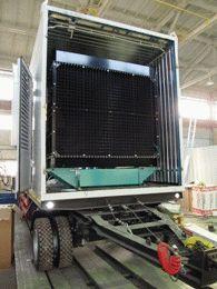 Установка дизельного генератора на шасси