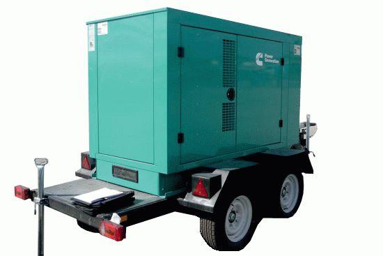 Дизельный генератор в кожухе на шасси