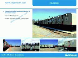 """KCA Deutag Ust-Teguss Field Camp on the Base of Prefabricated Mobile Structures """"ERMAK-Uni-Modul"""""""