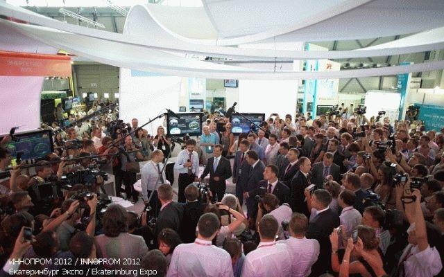 Дмитрий Медведев на выставке Иннопром 2012