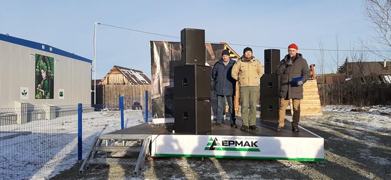 Праздник в селе Абрамово по случаю выполнения государственного контракта на строительство ФАПов в Свердловской области