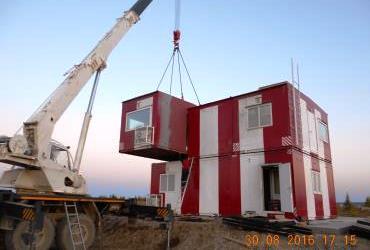 Монтаж здания КДП, Якутия