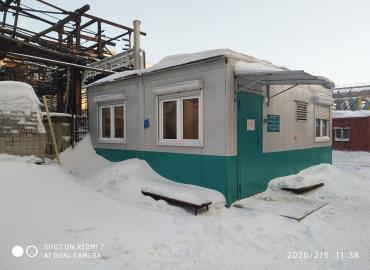 Блочно-модульное здание КПП