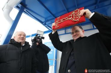 Министр здравоохранения Андрей Цветков на открытии ФАПа в Нижнем Селе