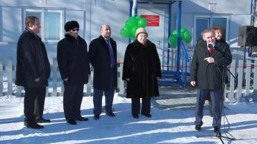 Андрей Альшевских на торжественном открытии ФАП в Санаторном