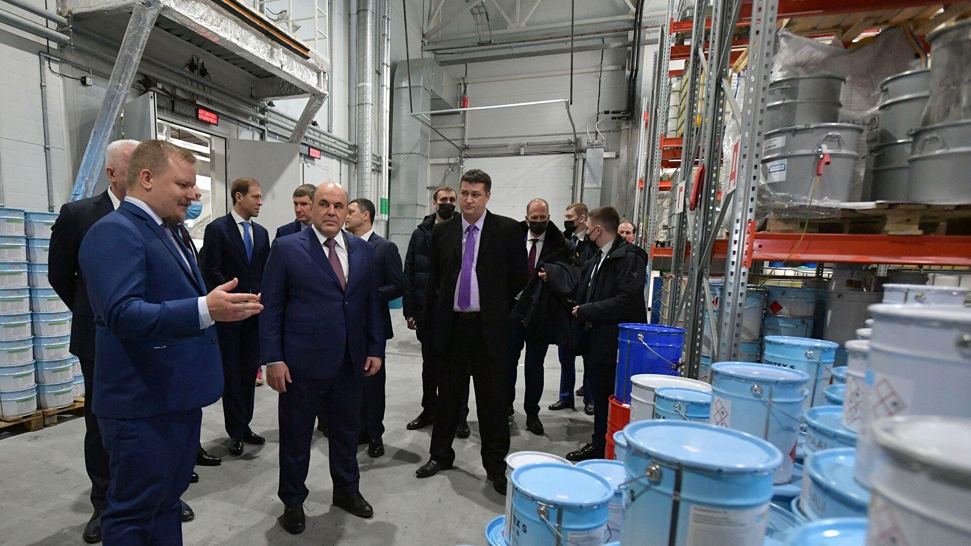 Михаил Мишустин на заводе Nor-Maaly Oy