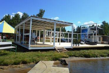 Блочно-модульный береговой комплекс на озере Таватуй