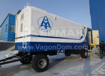 Вагон-дом лаборатория для компании АМТ-Сервис