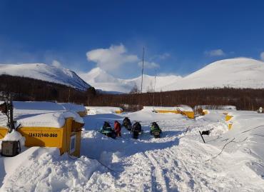 Туристическая база Нёр-Ойка зимой