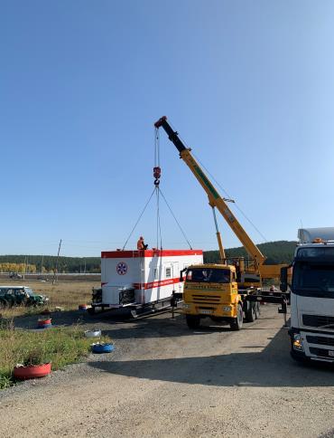 Установка трассового пункта на место эксплуатации, Кашино, Свердловская область