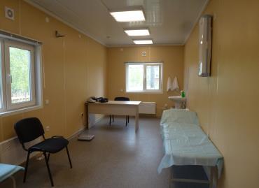 Кабинет приема пациентов в блочно-модульном ФАПе