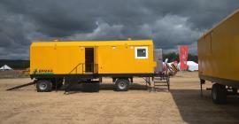 Вагон-дома Ермак на выставке Лесоруб 21 века