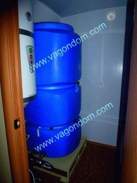 Система автономного водоснабжения в вагон-доме - скорой помощи