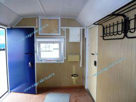 Вагон-дом столовая, внутренняя отделка