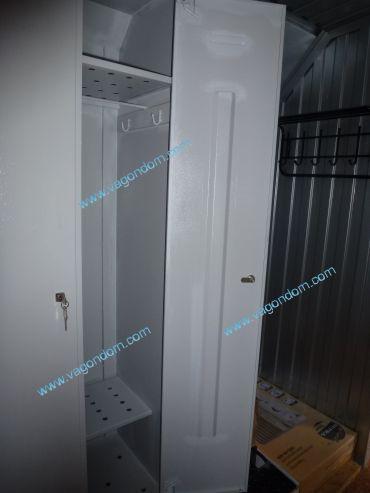 Шкафчик для просушивания одежды в вагон-доме сушилке