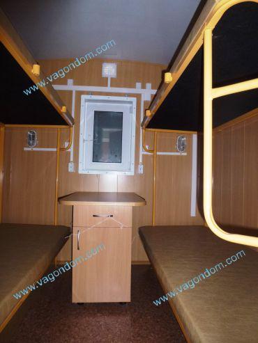 Жилая комната в вагон-доме Ермак