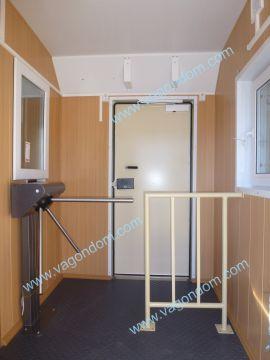 Вагон-дом Ермак - КПП, проходная с турникетом