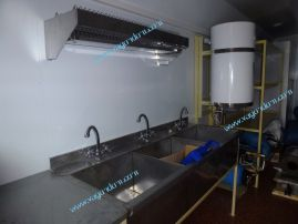 Моечная ванная в вагончике-кухне