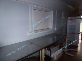 Раздаточное окно с теплым переходом