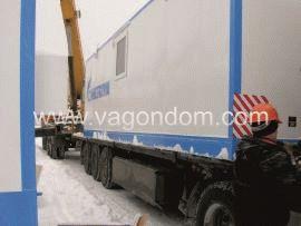 Транспортировка вагон-дома на раме