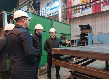 Визит министра промышленности Свердловской области на производственную площадку Группы Ермак