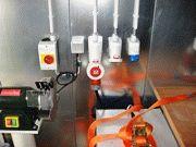 Специальные разъемы под оборудование в вагоне-мастерской