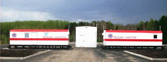 Трассовый медицинский пункт с гаражом